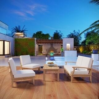 Pier 5-piece Outdoor Patio Teak Sofa Set
