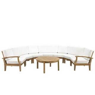 Pier 8-piece Outdoor Patio Sanded Finish Teak Sofa Set