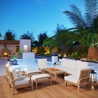 Pier 10-piece Outdoor Patio Teak Sofa Set