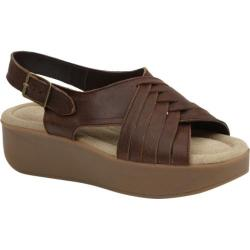 Women's Bass Sadie Platform Sandal Cocoa Leather