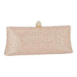 Women's J. Furmani 66845 Studded Hardcase Clutch Champagne
