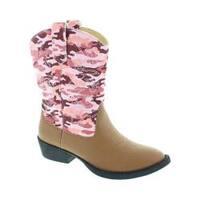 Girls' Deer Stags Ranch Cowboy Boot Tan/Pink Camo