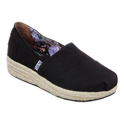 6dbdb6d8b46 Shop Women s Skechers BOBS Highlights Alpargata Black - Free Shipping On  Orders Over  45 - Overstock.com - 10413770