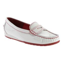 Women's ara Nadine 40838 White Patent/Red Stitch