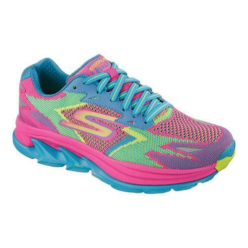 Shop Women s Skechers GOrun Ultra Road Hot Pink Turquoise - Ships To ... 5cd9aa91b