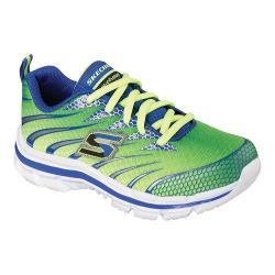 Boy's Skechers Nitrate Training Shoe Lime/Blue