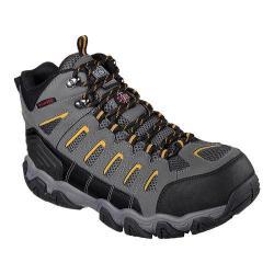 Men's Skechers Work Blais Bixford Steel Toe Boot Dark Gray