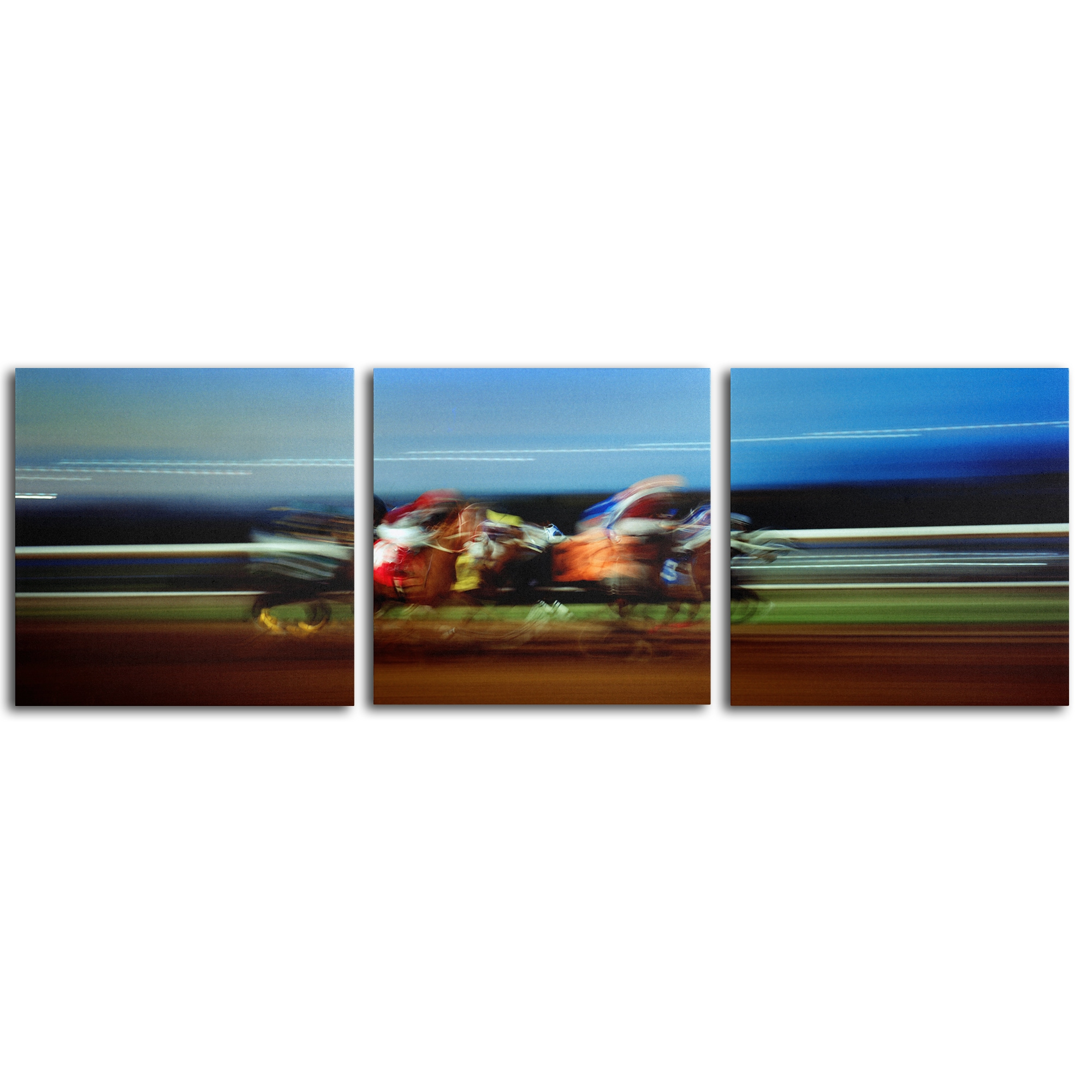 Finish Line by Preston set of 3 - 18x18 Ready to Hang!