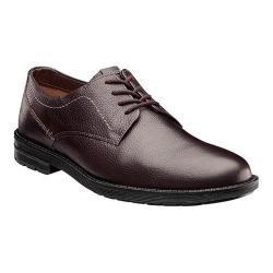 Men's Nunn Bush Douglas Plain Toe Oxford Dark Brown Leather
