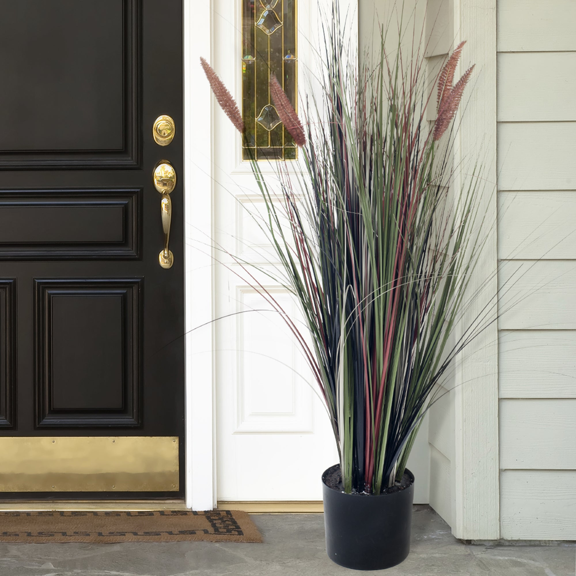 Trademark Romano Ornamental Artificial Tall Cattail Grass...