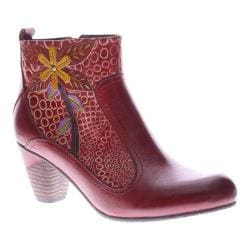 Women's L'Artiste by Spring Step Dramatic Boot Dark Red Multi Leather