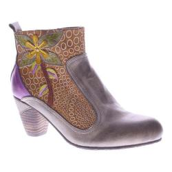 Women's L'Artiste by Spring Step Dramatic Boot Taupe Multi Leather