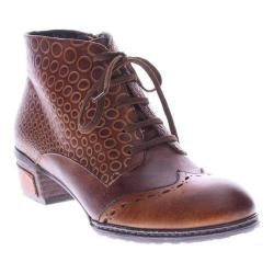 Women's L'Artiste by Spring Step Granola Bootie Camel Multi Leather