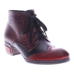 Women's L'Artiste by Spring Step Granola Bootie Dark Red Multi Leather