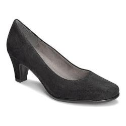 Women's A2 by Aerosoles Redwood Pump Black Faux Suede