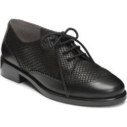 Women's Aerosoles Accomplishment Black Snake Embossed Leather