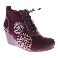 Women's L'Artiste by Spring Step Westminster Wedge Bootie Bordeaux Leather/Suede