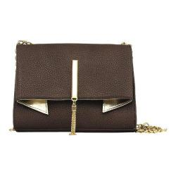 Women's Nicole Miller Trina Clutch Coffee/Gold