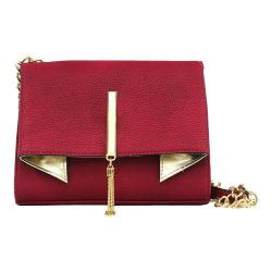Women's Nicole Miller Trina Clutch Winterberry/Gold