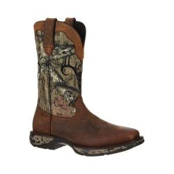 Durango Men's Boot Pull-On Rebel Waterproof Distressed Brown/Camo Leather Nylon