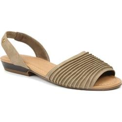 Women's Bass Cadence Pleated Sandal Sea Rock Nubuck