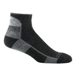 Men's Darn Tough Black Cushion 1905 Vermont 1/4 Socks (Set of 2)