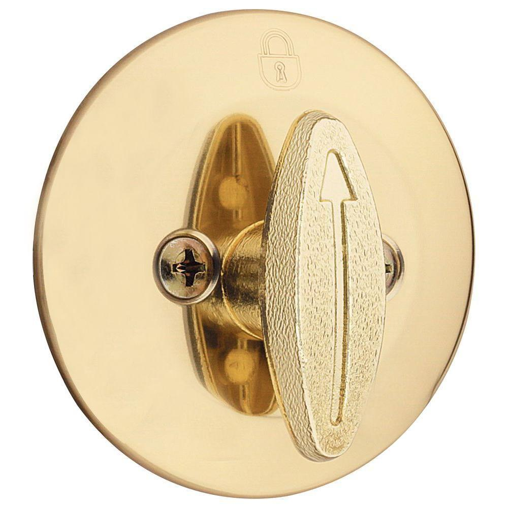 Kwikset 663 Single Cylinder Polished Brass Single-Sided Deadbolt