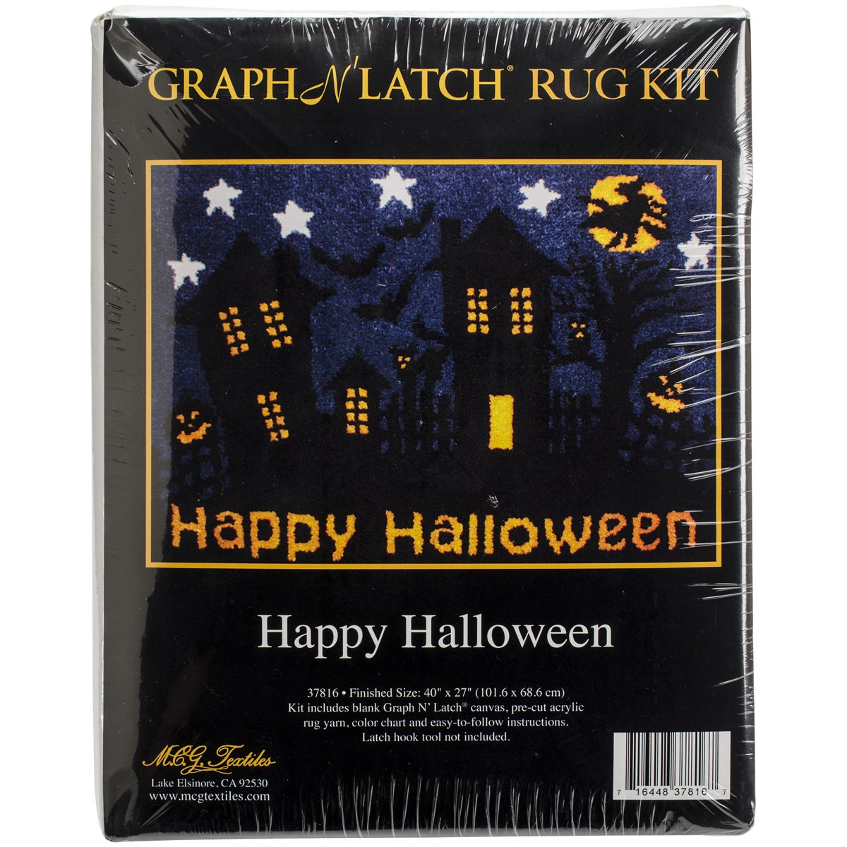 "Latch Hook Kit 40""X27""-Happy Halloween"