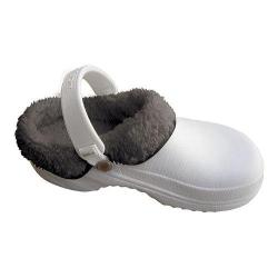 Nothinz Plush Clogs White/Black