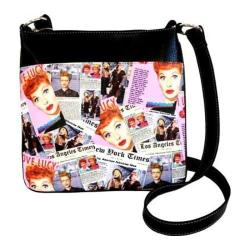 Women's I Love Lucy Signature Product I Love Lucy Collage Messenger Bag LU611 Black