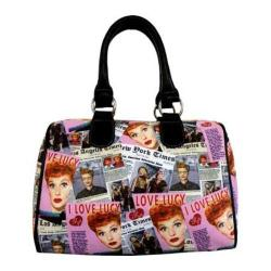 Women's I Love Lucy Signature Product I Love Lucy Collage Satchel Bag LU612 Black