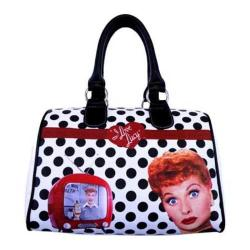 Women's I Love Lucy Signature Product I Love Lucy Polka Dot Satchel Bag LU812 Black
