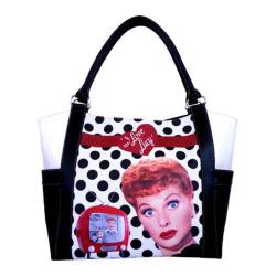 Women's I Love Lucy Signature Product I Love Lucy Polka Dot Shopping Bag LU814 Black