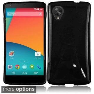 INSTEN Colorful TPU Rubber Gel Skin Cover Phone Case Cover for Google Nexus 5
