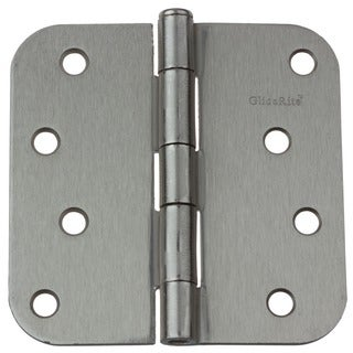 GlideRite 4-inch Satin Nickel Door Hinges (Pack of 12)