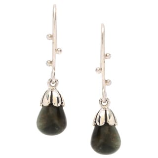 Sitara Sterling Silver Faceted Tiger's Eye Dangle Earrings (India)