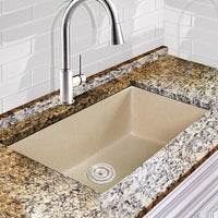 Highpoint collection granite composite 33 inch single bowl highpoint collection granite composite 33 inch single bowl sand undermount kitchen sink with 9 1 workwithnaturefo