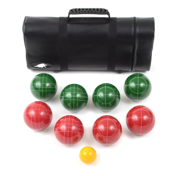 Lion Sports Best 107 MM Tournament Resin Bocce Set in Tube Case