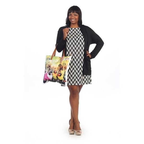 Shop Hadari Womens Plus Size Black And White Chevron Shirt Dr