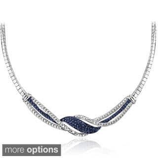 DB Designs Silvertone 1/4ct TDW Black/ Blue and White Diamond Twist Frontal Necklace https://ak1.ostkcdn.com/images/products/9102889/DB-Designs-Silvertone-1-4ct-TDW-Black-Blue-and-White-Diamond-Twist-Frontal-Necklace-I-J-I2-I3-P16290124.jpg?impolicy=medium