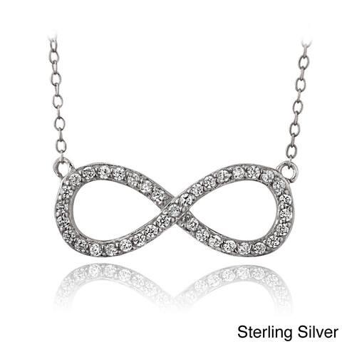 Buy Infinity Cubic Zirconia Necklaces Online at Overstock