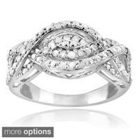 DB Designs Silvertone or Goldtone 1/4ct TDW Diamond Intertwining Infinity Ring