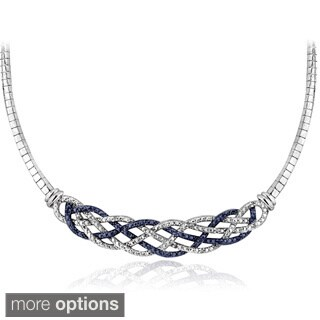 DB Designs Silvertone 1/4ct TDW Black or Blue and White Diamond Weave Frontal Necklace https://ak1.ostkcdn.com/images/products/9102903/DB-Designs-Silvertone-1-4ct-TDW-Black-or-Blue-and-White-Diamond-Weave-Frontal-Necklace-I-J-I2-I3-P16290133.jpg?_ostk_perf_=percv&impolicy=medium