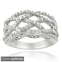 DB Design Silvertone or Goldtone 1/4ct TDW Diamond Weave Ring