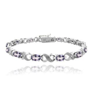Icz Stonez Silvertone 6ct TGW Violet Cubic Zirconia and Diamond Accent Infinity Bracelet|https://ak1.ostkcdn.com/images/products/9102926/Icz-Stonez-Silvertone-6ct-TGW-Violet-Cubic-Zirconia-and-Diamond-Accent-Infinity-Bracelet-P16290151.jpg?impolicy=medium