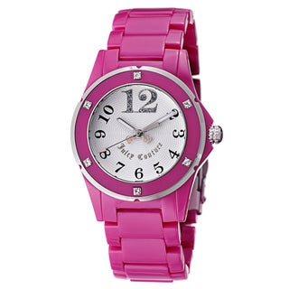 Juicy Couture Women's 1900580 'Rich Girl' Pink Stainless Steel Watch