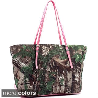 Realtree Wide Carry-all Camouflage Tote Bag with Thin Shoulder Straps