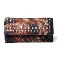 Mossy Oak Rhinestone Studded Camouflage Checkbook Wallet