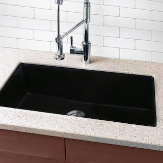 Kitchen Sink Undermount Undermount kitchen sinks for less overstock highpoint collection granite composite 33 inch single bowl black undermount kitchen sink workwithnaturefo