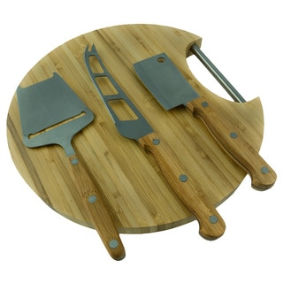 Red Vanilla Slice Cheese Board and 4-pc Cutting Set